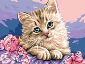 Картина по номерам EX5281 Милый котенок