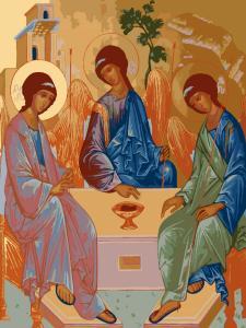 Картина по номерам ME1042 Святая Троица