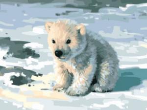 Картина по номерам EX5758 Милый медвежонок