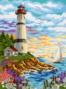 Картина по номерам MG086 Красочный маяк