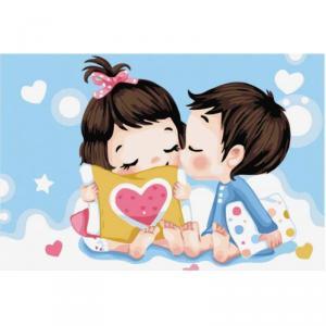 Картина по номерам MC041 Невинный поцелуй