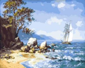 Картина по номерам GX9714 Ветер с моря