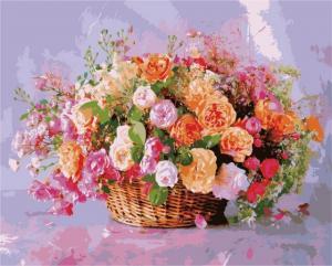 Картина по номерам MG3204 Корзина роз