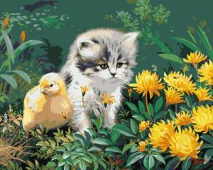 Картина по номерам GX8207 Маленькие друзья
