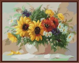 Картина по номерам GX6291 Садовый букет