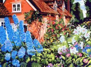 Картина по номерам MG014 Бабушкин садик