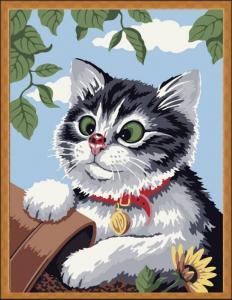 Картина по номерам ME085 Любопытный котенок