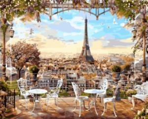 Картина по номерам GX8876 Парижская терасса