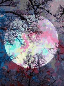 Картина по номерам EX6362 Неоновая луна