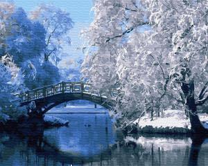 Картина по номерам GX30823 Зимний мостик