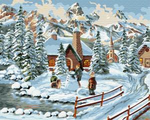 Картина по номерам GX30921 Зимний городок