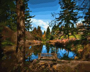 Картина по номерам GX30938 Лавочка у озера
