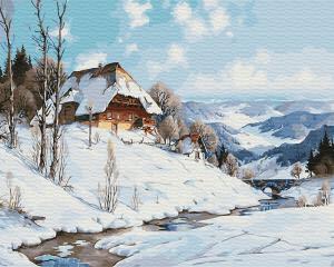 Картина по номерам GX31641 Зимний дом у реки