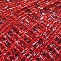 Пряжа YarnArt Camellia (416 красный-серебро)