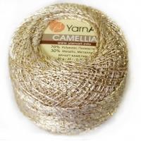 Пряжа YarnArt Camellia (430 белое золото)