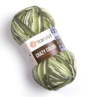 Пряжа YarnArt Crazy Color (115 зеленый)