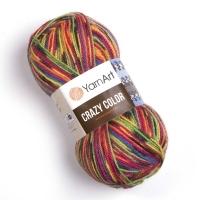 Пряжа YarnArt Crazy Color (148 м.радуга)