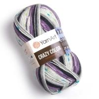 Пряжа YarnArt Crazy Color (165 м.фиолет/серый)