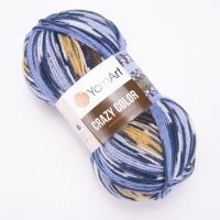 Пряжа YarnArt Crazy Color (167 м.жёлт/оранж/малина)