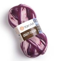 Пряжа YarnArt Crazy Color (168 м.бордо/молоко)
