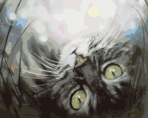 Картина по номерам ME1074 Кошечка в мечтах