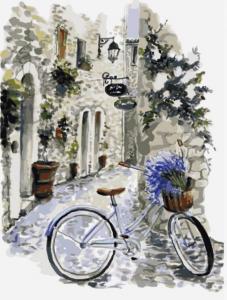 Картина по номерам ME1082 На велосипеде по провансу
