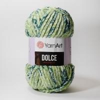 Пряжа YarnArt Dolce (808 зелёный принт)