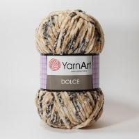 Пряжа YarnArt Dolce (802 кремово-беж./серый принт)