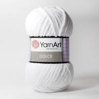 Пряжа YarnArt Dolce (741 белый)
