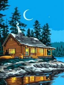 Картина по номерам EX5874 Домик у озера