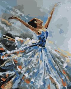 Картина по номерам MG2050 Балерина в голубом
