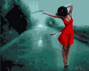 Картина по номерам MG6821 Танцующая под дождём