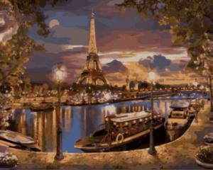 Картина по номерам GX8853 Париж. Вечер