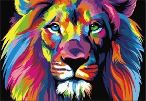Картина по номерам MG2034 Радужный лев