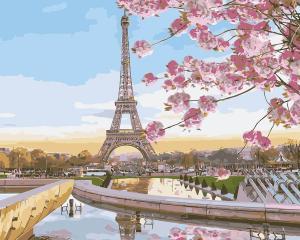 Картина по номерам MG2133 Цветущий Париж