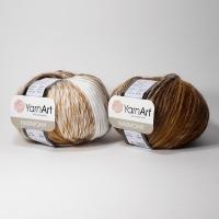 Пряжа YarnArt Harmony (А-14 бело-коричневый)
