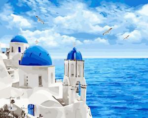 Картина по номерам GX29448 Белоснежный Санторини