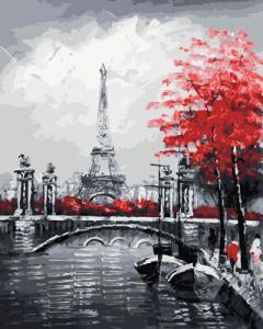 Картина по номерам GX29901 Канал на фоне Эйфелевой башни