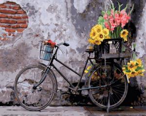 Картина по номерам GX30798 Ретро велосипед