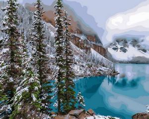 Картина по номерам GX30898 Изумрудное озеро
