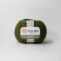 Пряжа YarnArt Jeans (82 оливковый)