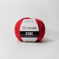 Пряжа YarnArt Jeans (90 алый)
