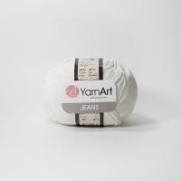 Пряжа YarnArt Jeans (01 белый)
