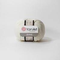 Пряжа YarnArt Jeans (03 молоко)