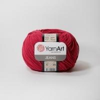 Пряжа YarnArt Jeans (51 красный)