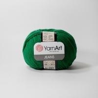 Пряжа YarnArt Jeans (52 т.зеленый)