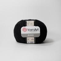 Пряжа YarnArt Jeans (53 черный)