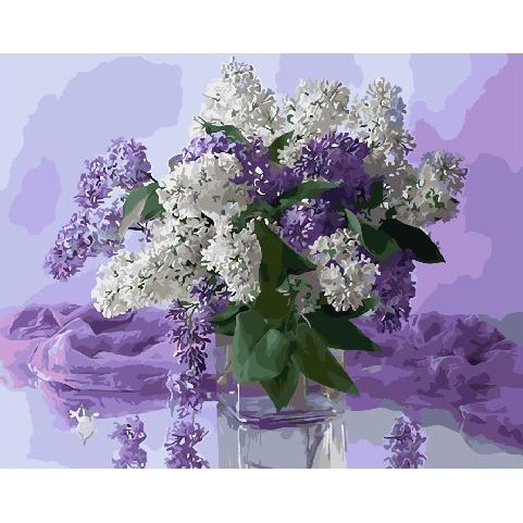 Картина по номерам GX 31204 Светлые краски сирени 40х50 см