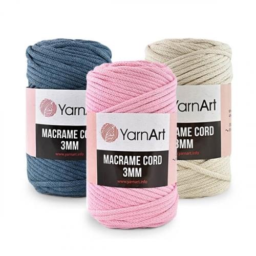 Пряжа YarnArt Macrame Cord 3 mm