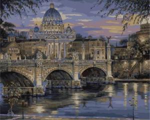 Картина по номерам MG1150 Вечерний Ватикан